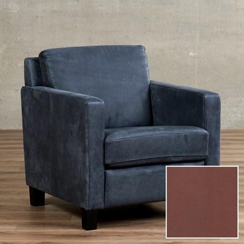 Leren fauteuil Smart - Granada leer Savannah - Hout - Zwart