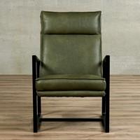 Leren fauteuil Square-2