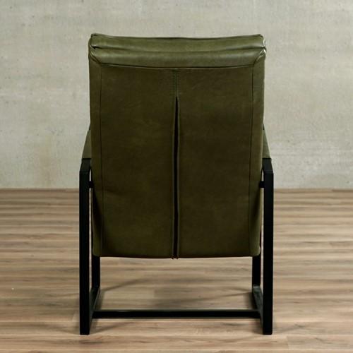 Leren fauteuil Square-3
