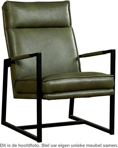Leren fauteuil Square