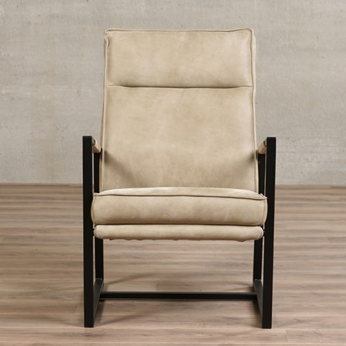 Leren fauteuil Square - Kenia Leer Taupe-2