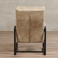 Leren fauteuil Square - Kenia Leer Taupe-3
